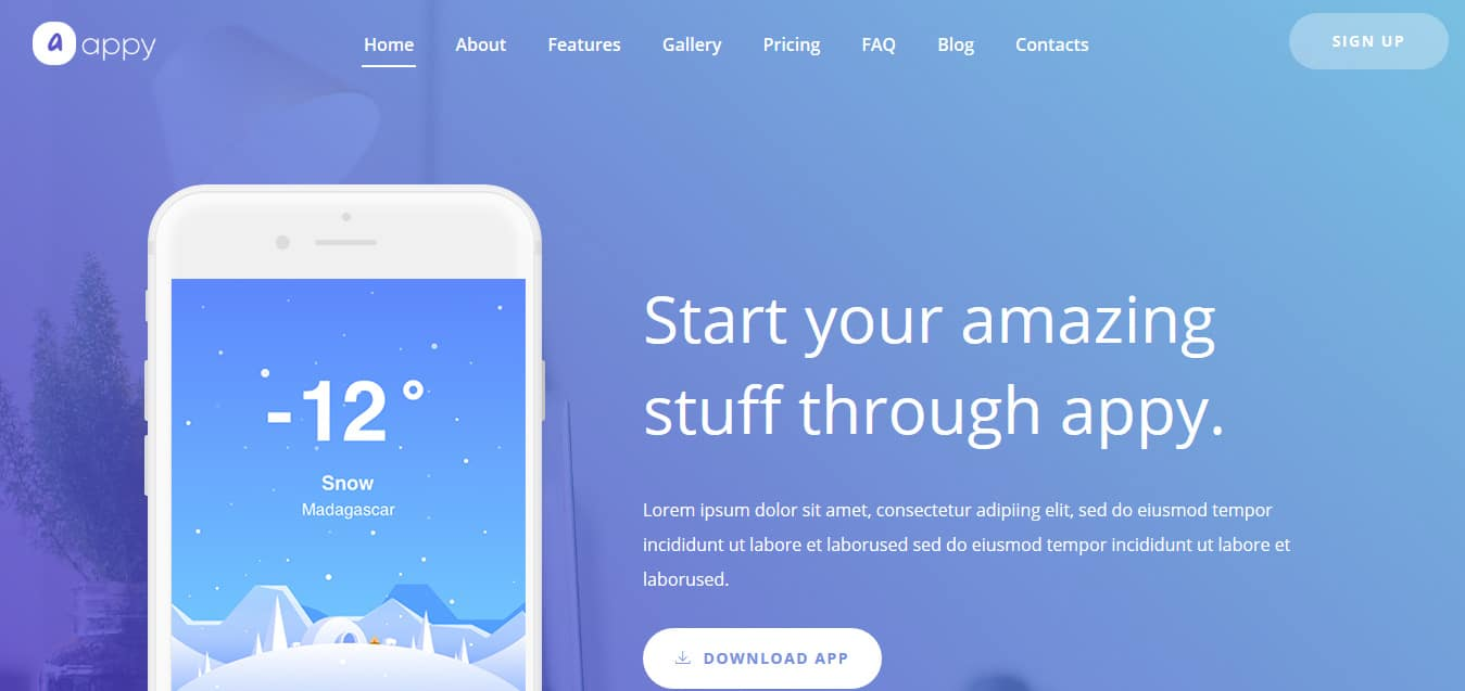 Appy-App -Free -Startup-Website-Templates