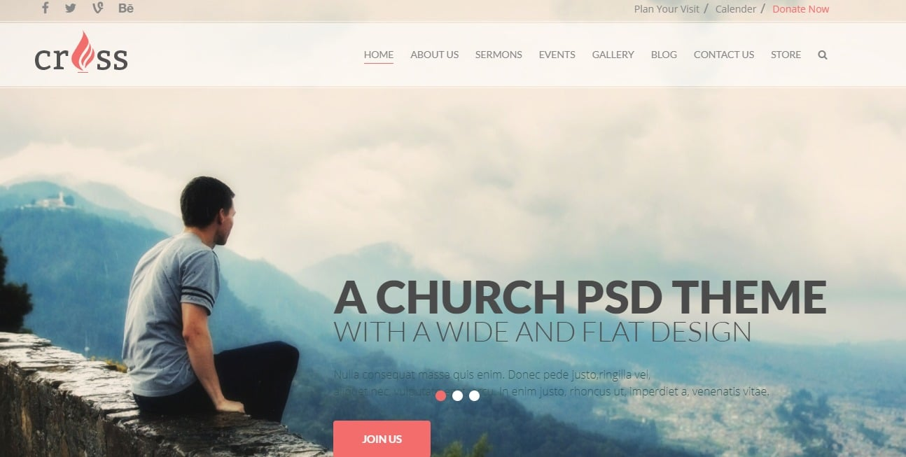 Cross-church-website-template