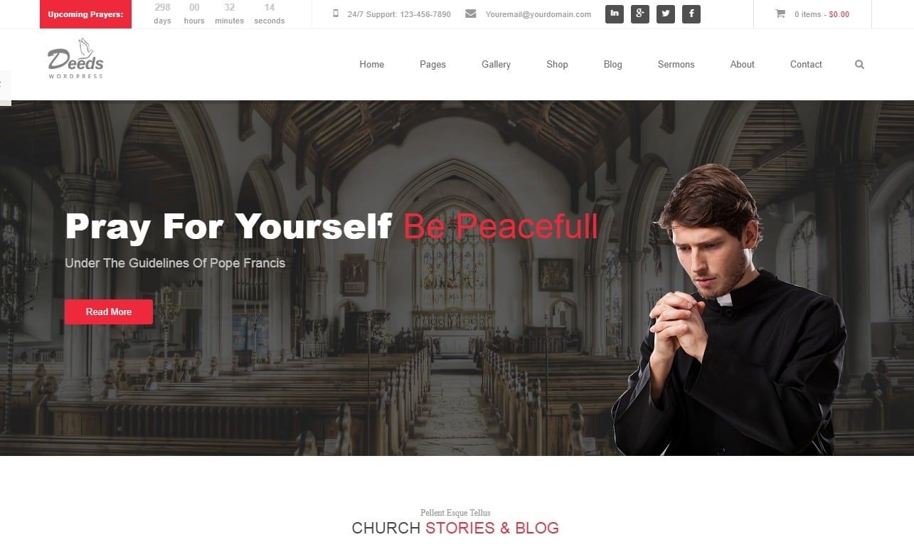 Deeds-church-website-template