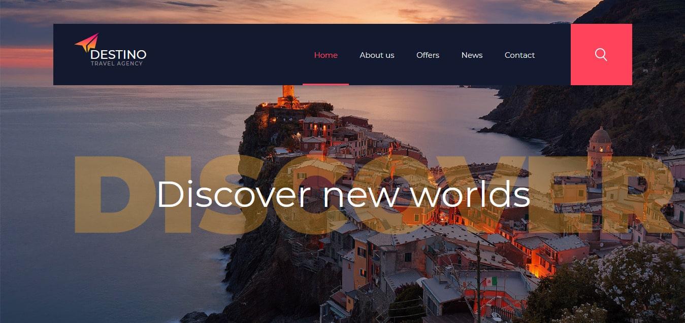 Destino-Free-Responsive-Website-Templates