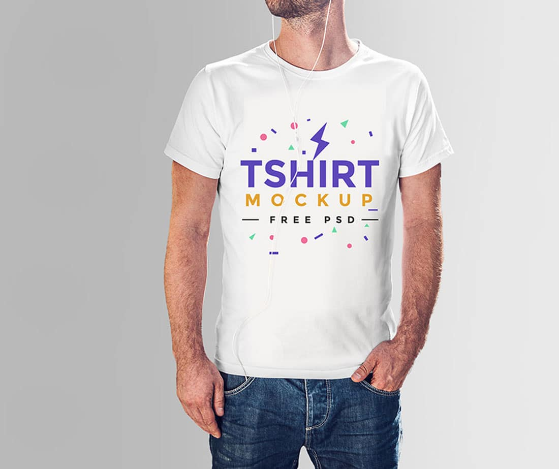 Free-Tshirt-Mockup-PSD-With-Model