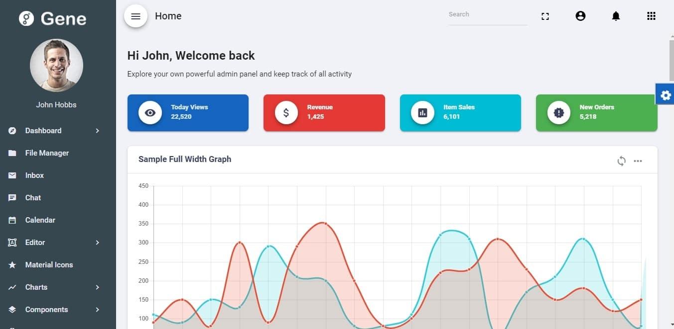 Gene-admin-dashboard-template