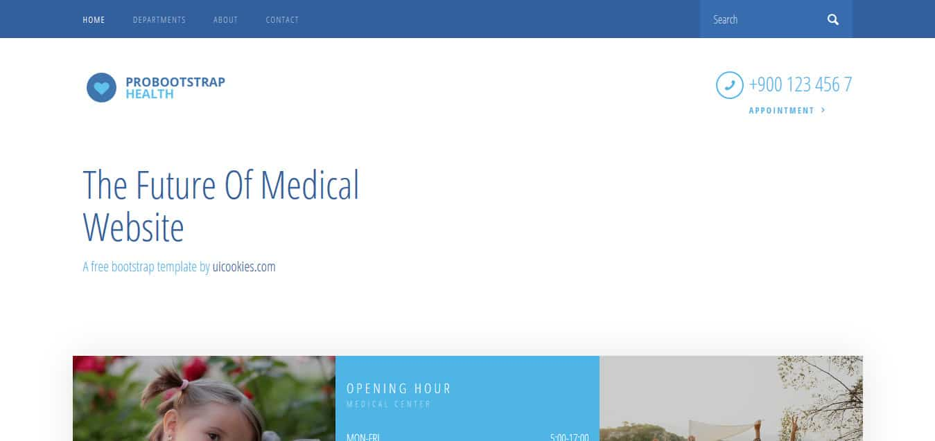 Health-Free-Bootstrap 4 -Website-Templates