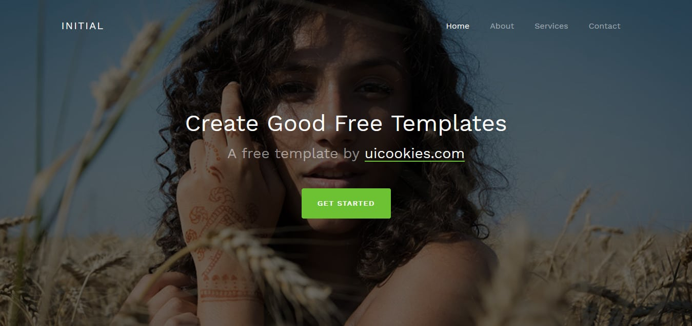 Initial-Free-Bootstrap 4-Website-Templates