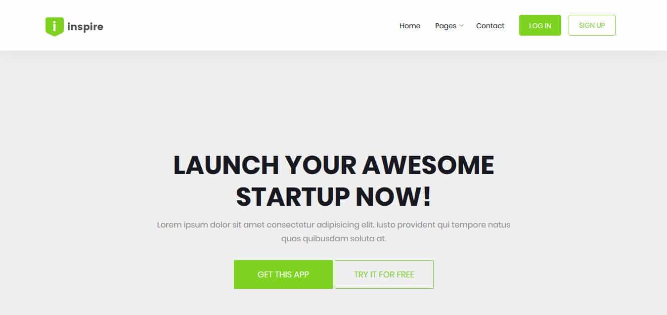 Inspire-Free -Startup-Website-Templates