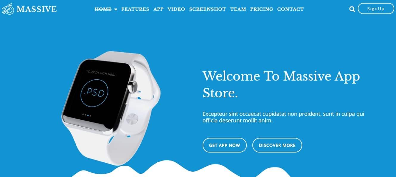 Massive-Html5-App-Landing -emplate