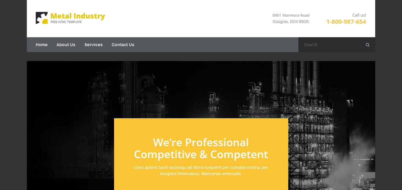 Metal-Free-HTML5-Responsive-Bootstrap-Themes & Templates-For-Business- 2018