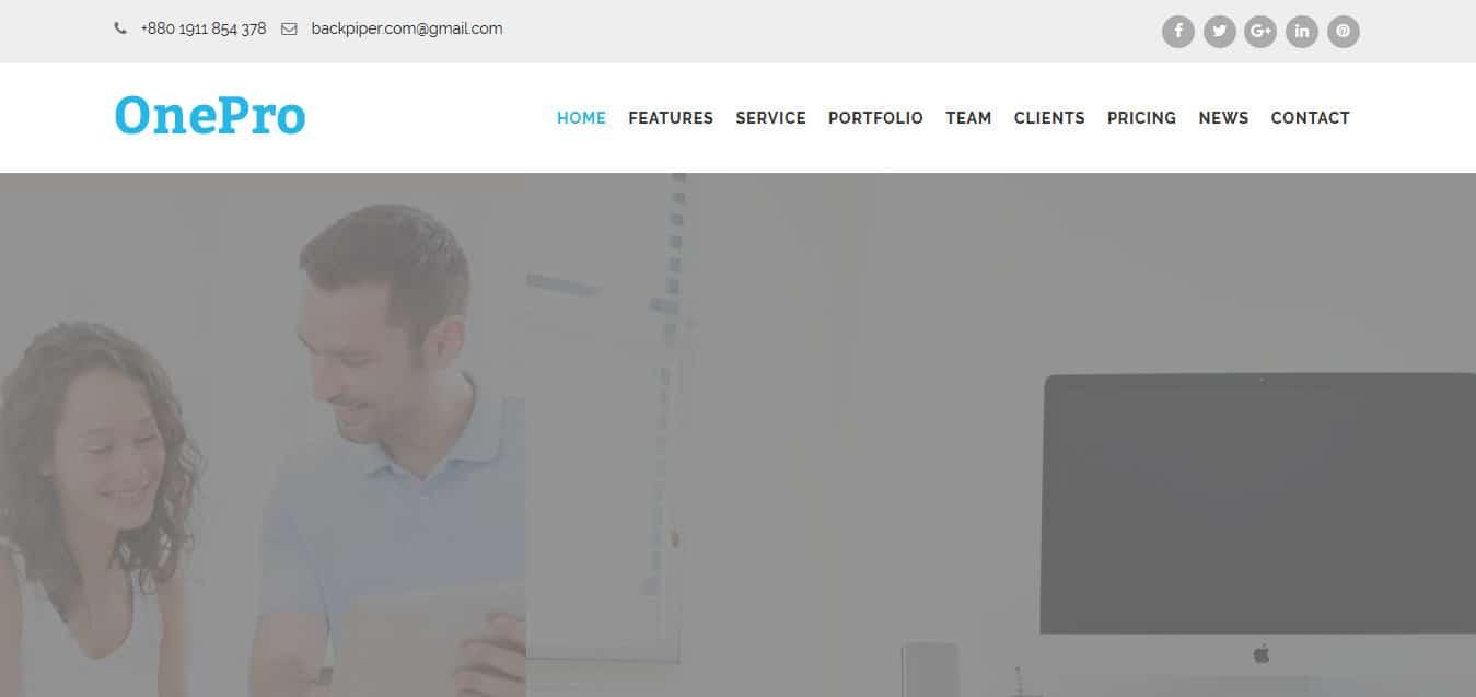 OnePro-Free -Startup-Website-Templates