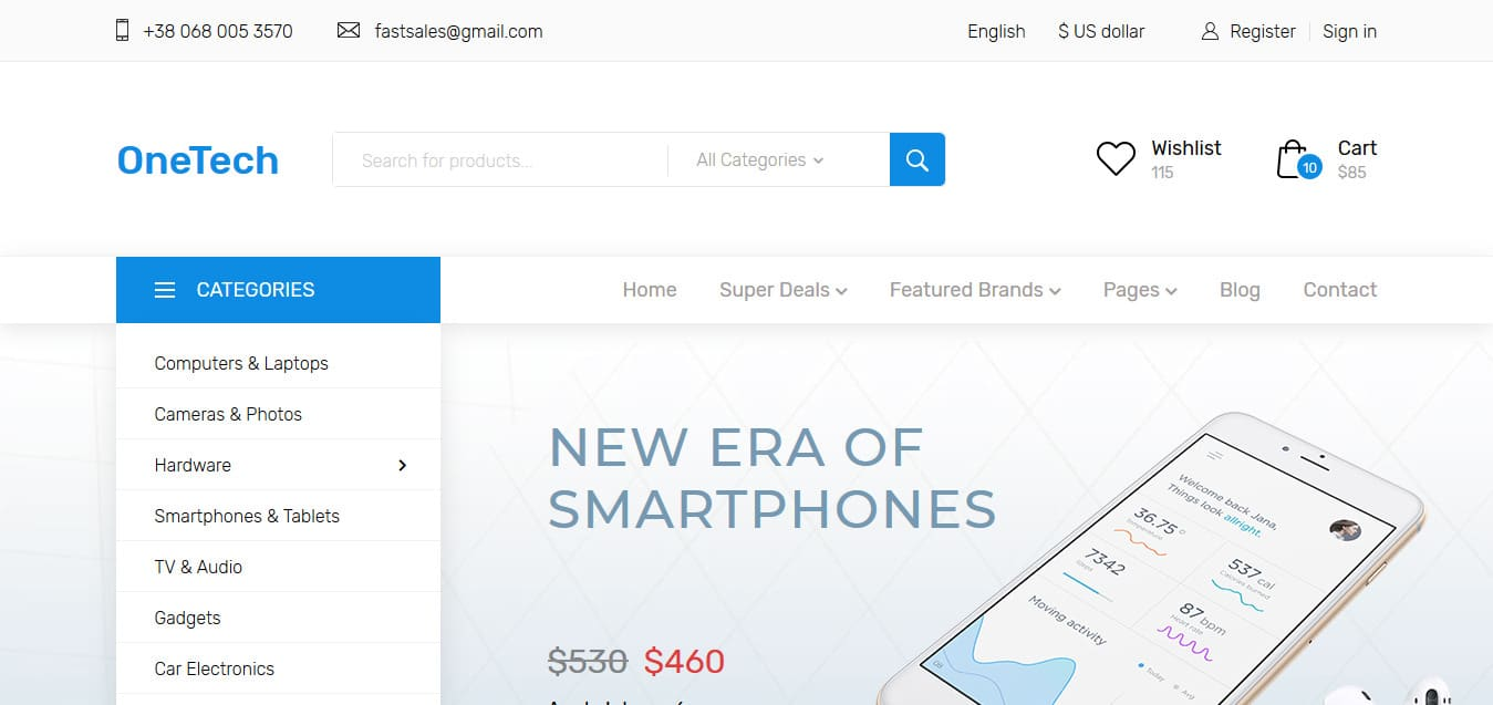OneTech-Free-Responsive-Website-Templates