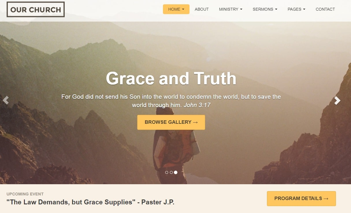 Our-Church-responsive-website-template