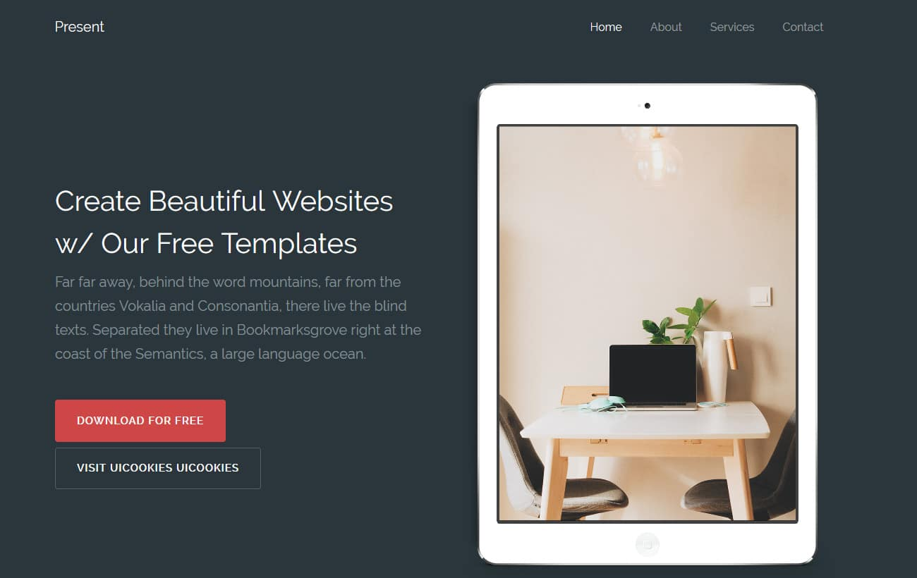 Present-Free-Bootstrap 4-Website-Templates