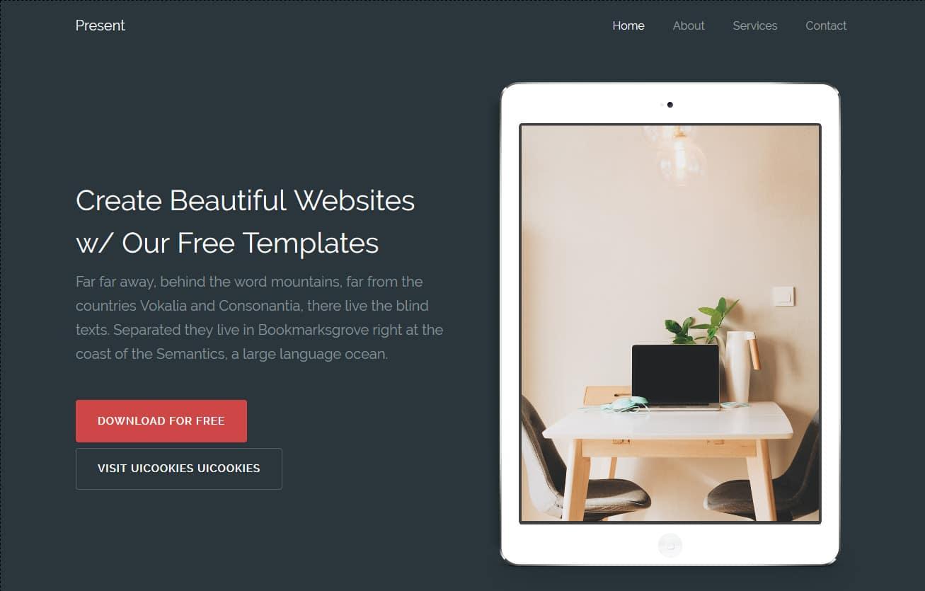 Present-Free -Startup-Website-Templates