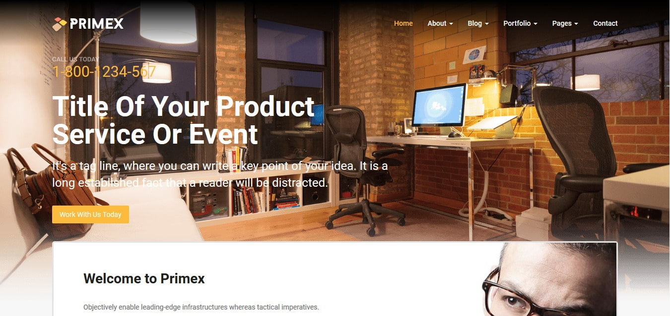 primex free responsive corporate business agency website templates - Free Responsive Website Templates