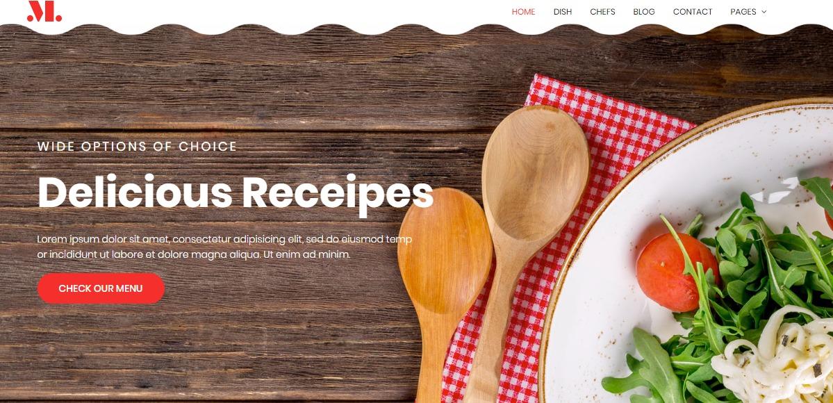 restaurant free responsive food and restaurant website template
