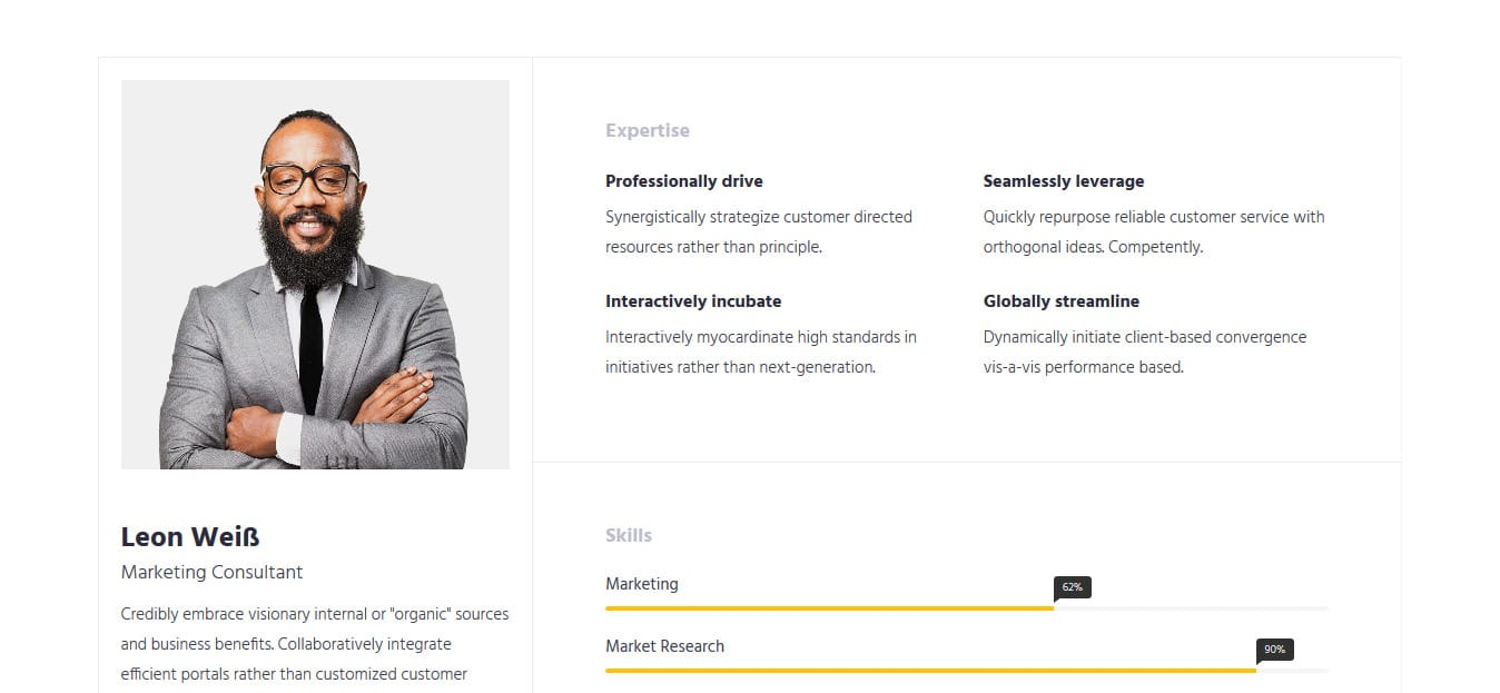 Free Bootstrap Html Resume Templates For Personal Cv Website