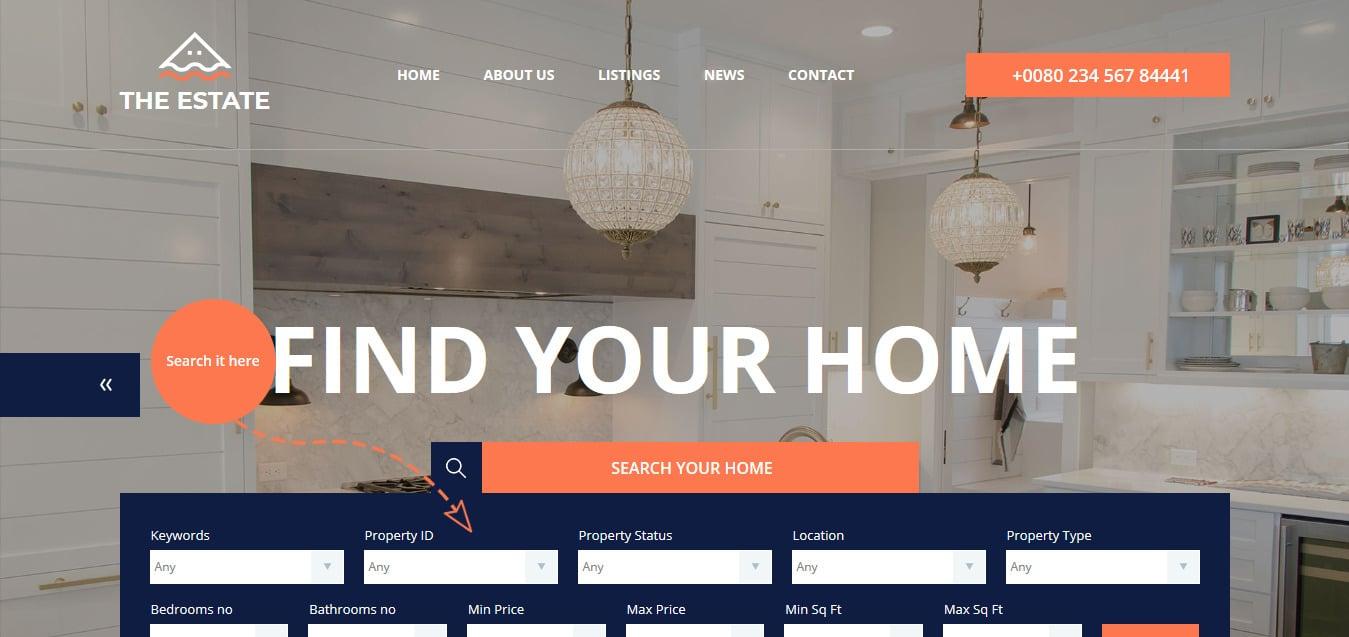 The-Estate-Free-Responsive-Website-Templates