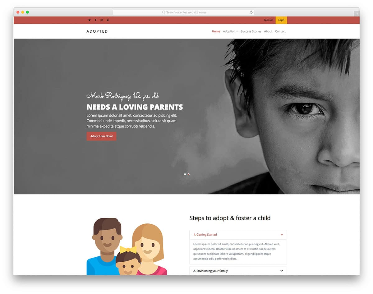 adopted-free-church-website-templates