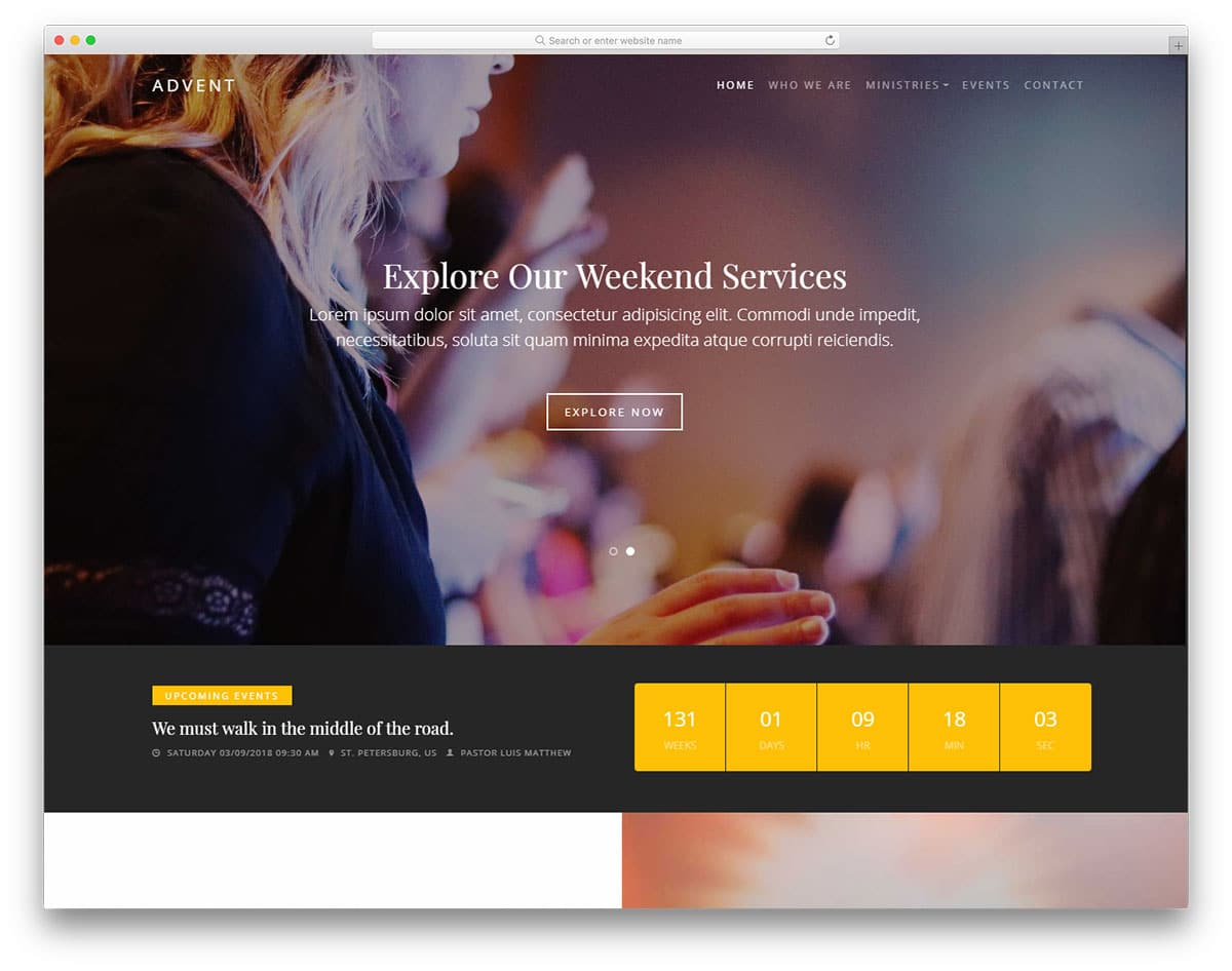 advent-free-church-website-templates
