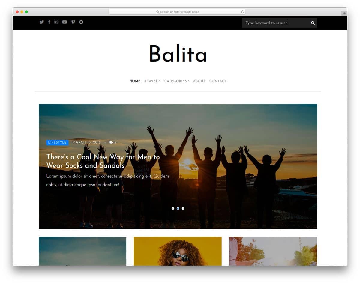 balita-free-blog-templates