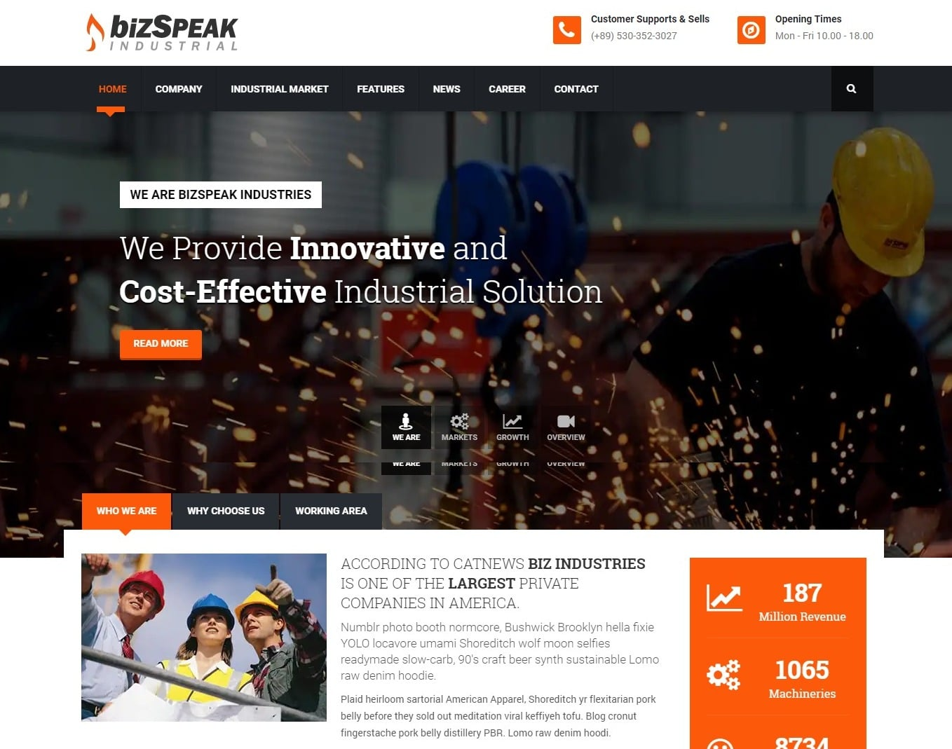 bizspeak-construction-website-template