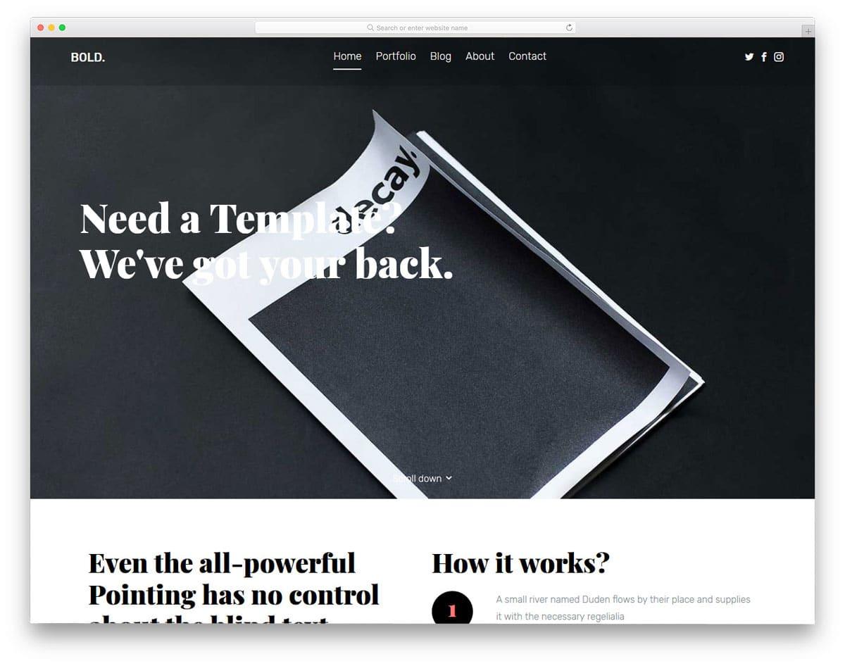 bold-free-bootstrap-portfolio-templates
