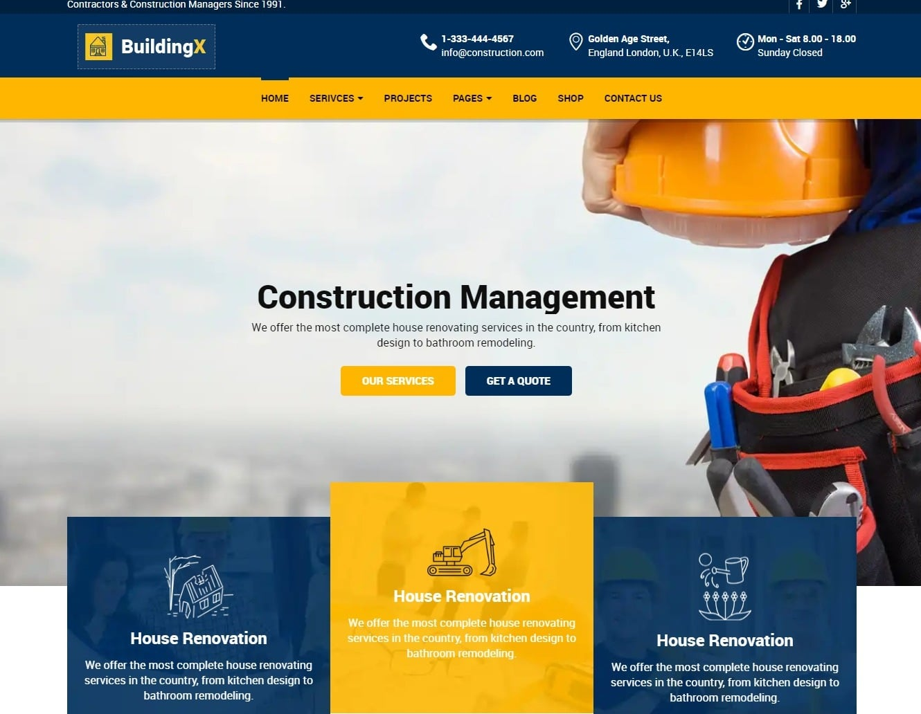 30+ Amazing Industrial & Construction Website Templates 2019