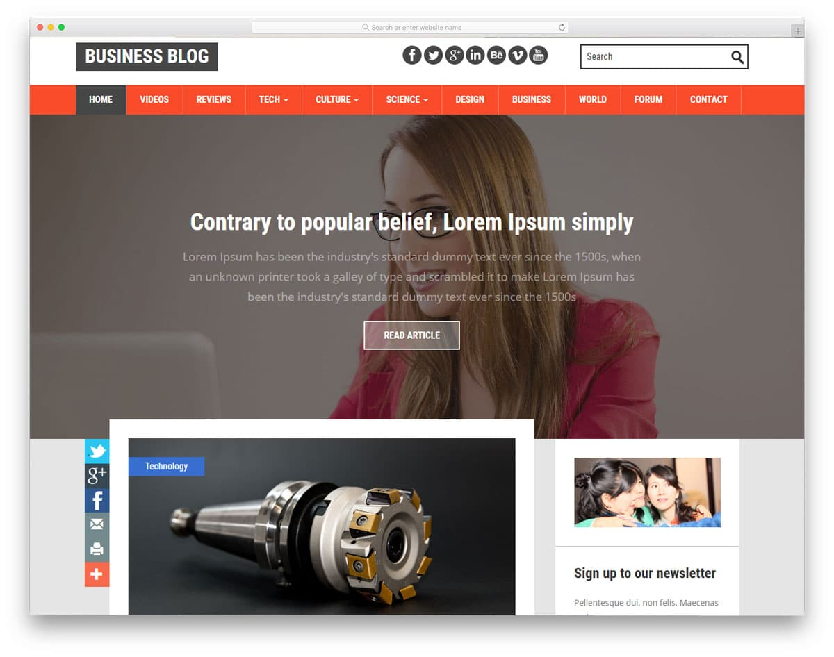 20 best free blog templates with reader friendly design business blog free blog templates wajeb