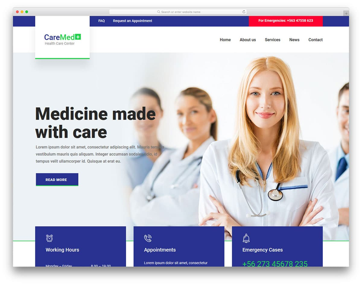 caremed-free-medical-website-templates