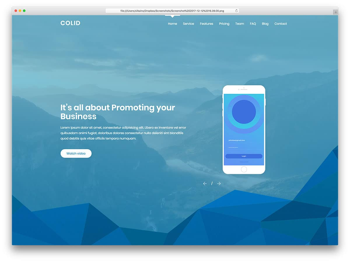 colid-free-bootstrap-landing-page-templates