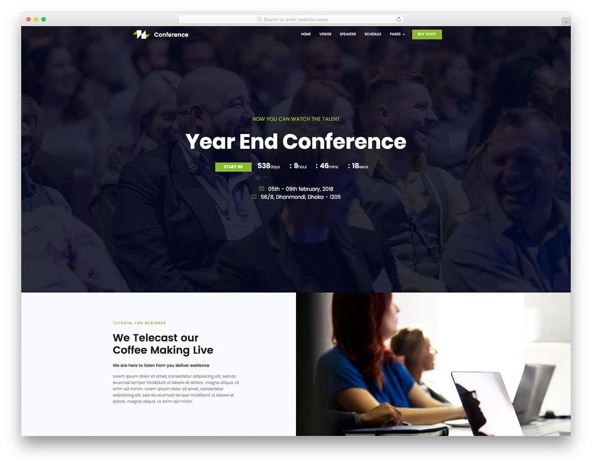 conference-free-church-website-templates