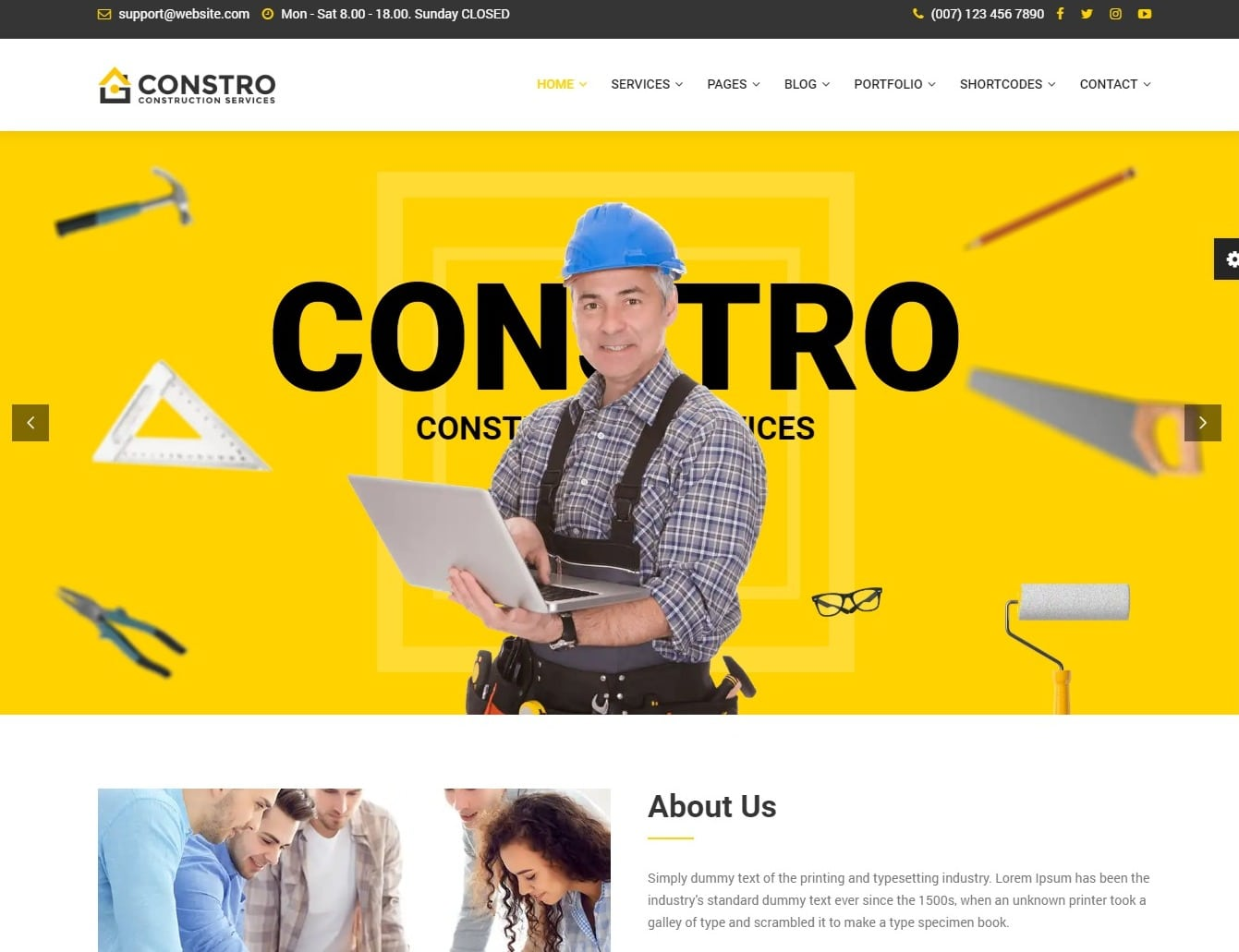 constro-construction-website-template