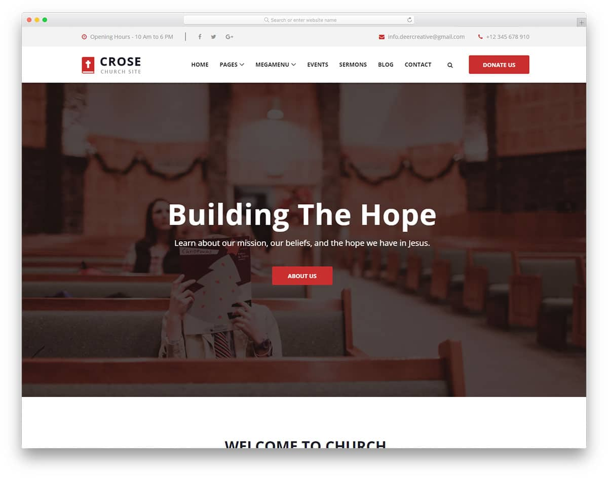 crose-free-church-website-templates