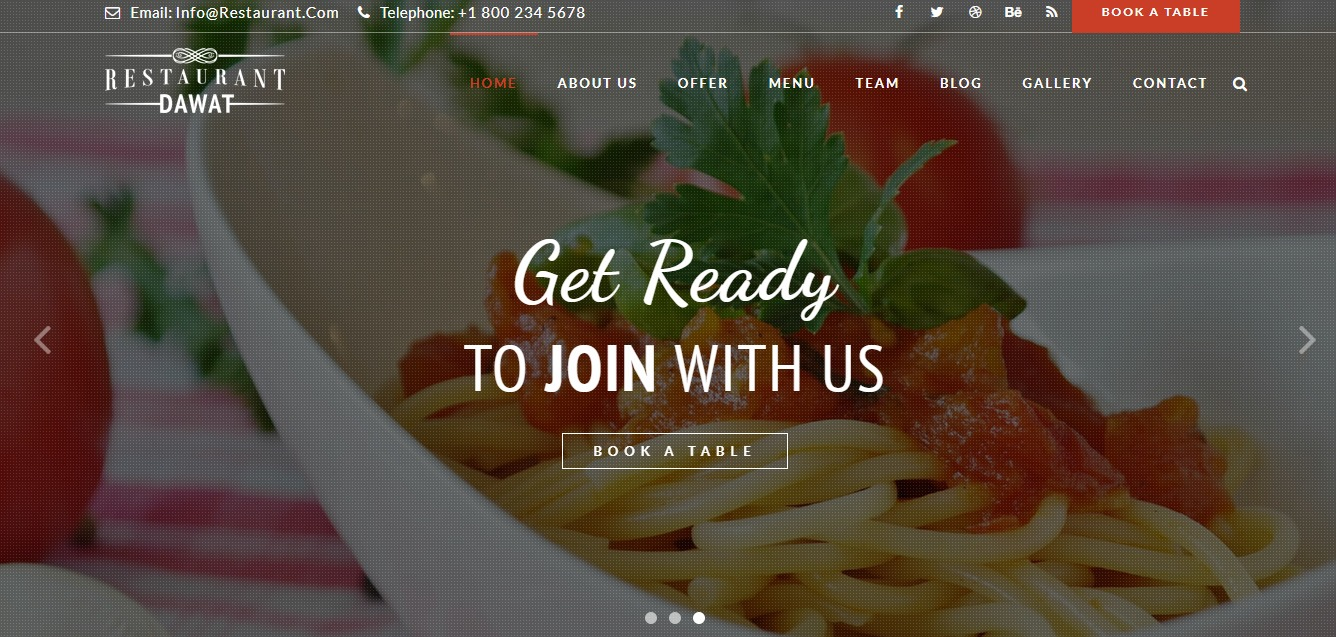 dawat-restaurant-website-template