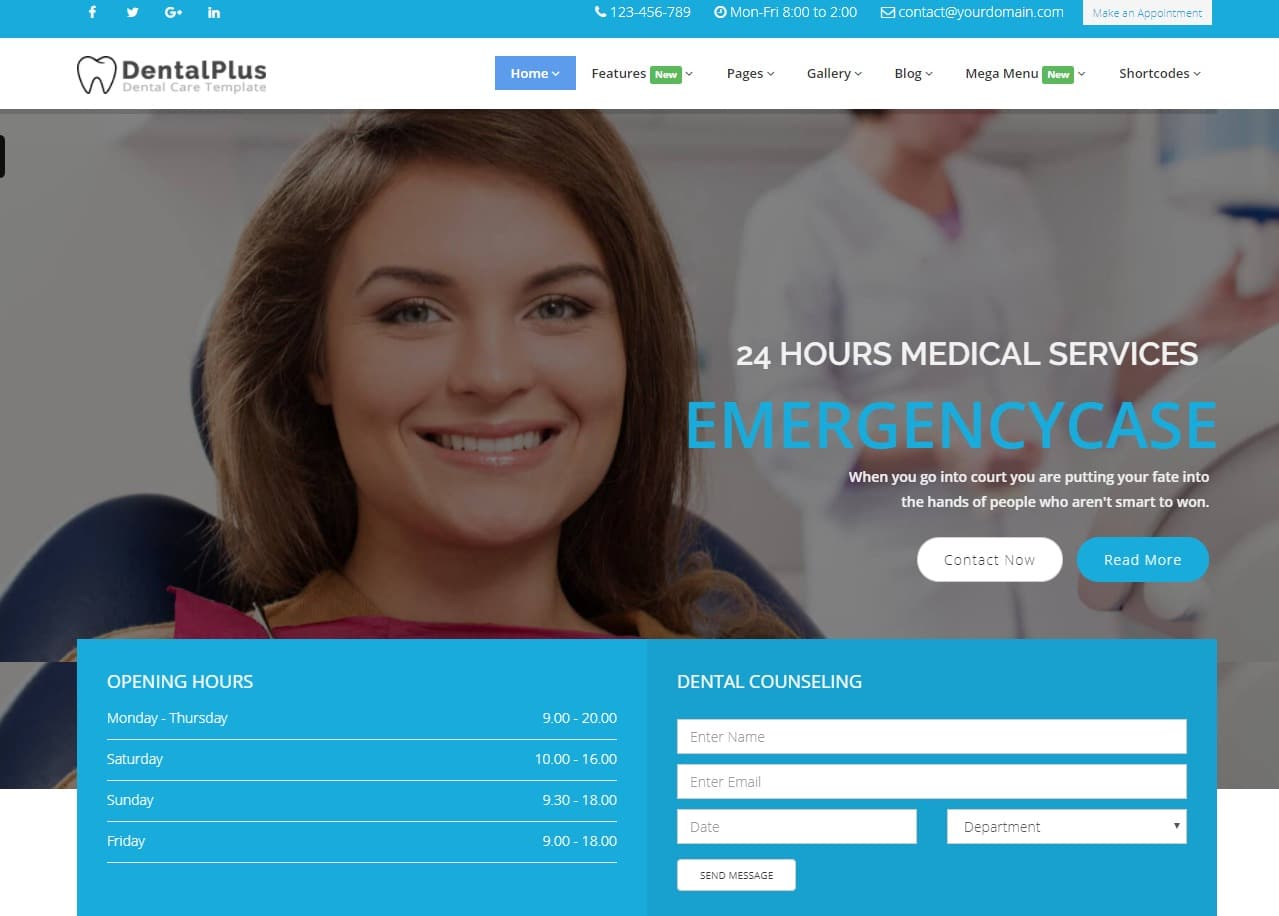 dentalplus-html-medical-website-template