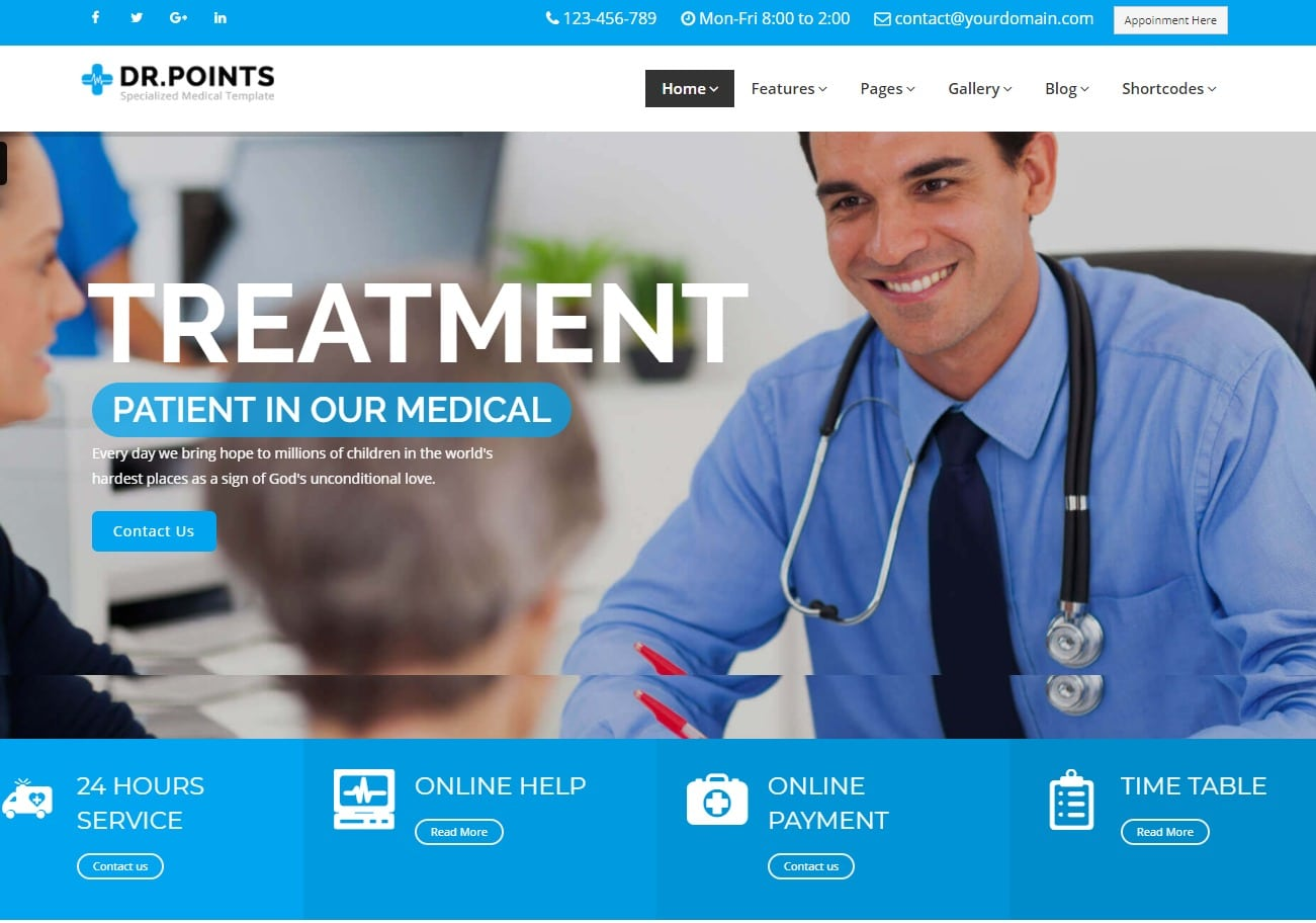 dr-points-html-medical-website-template