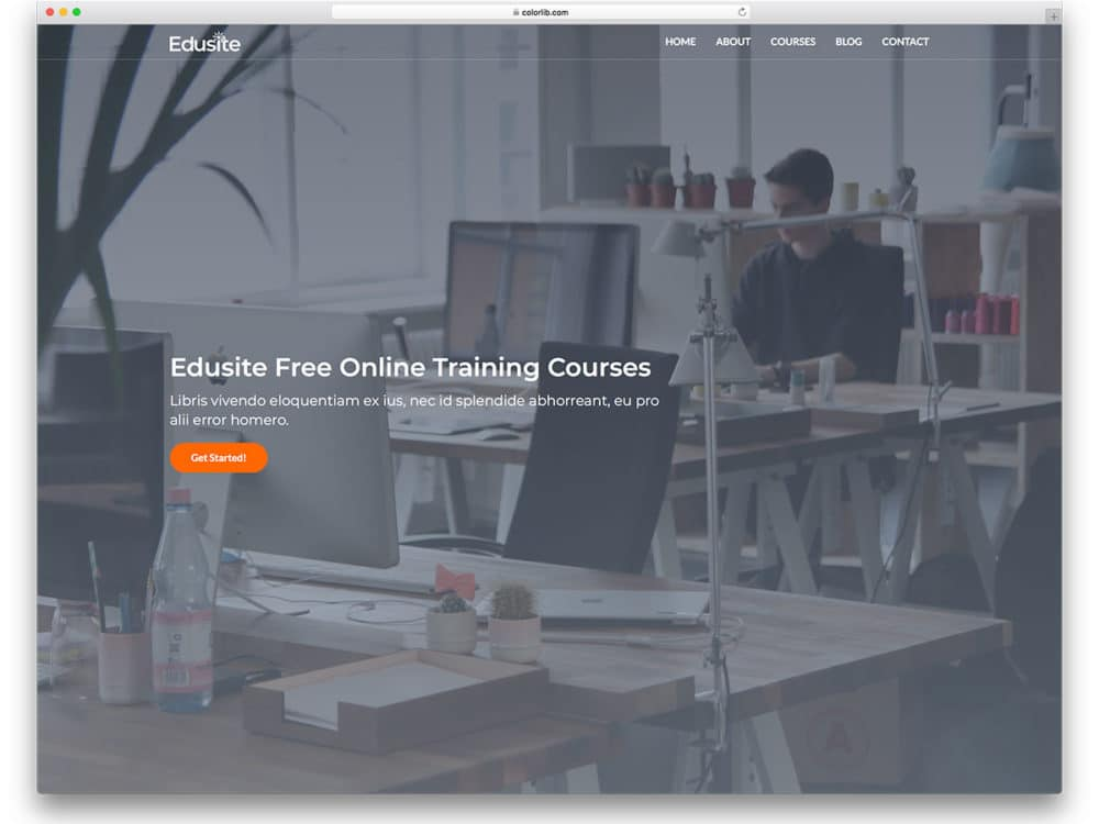 20 best free education website templates with premium features 2018