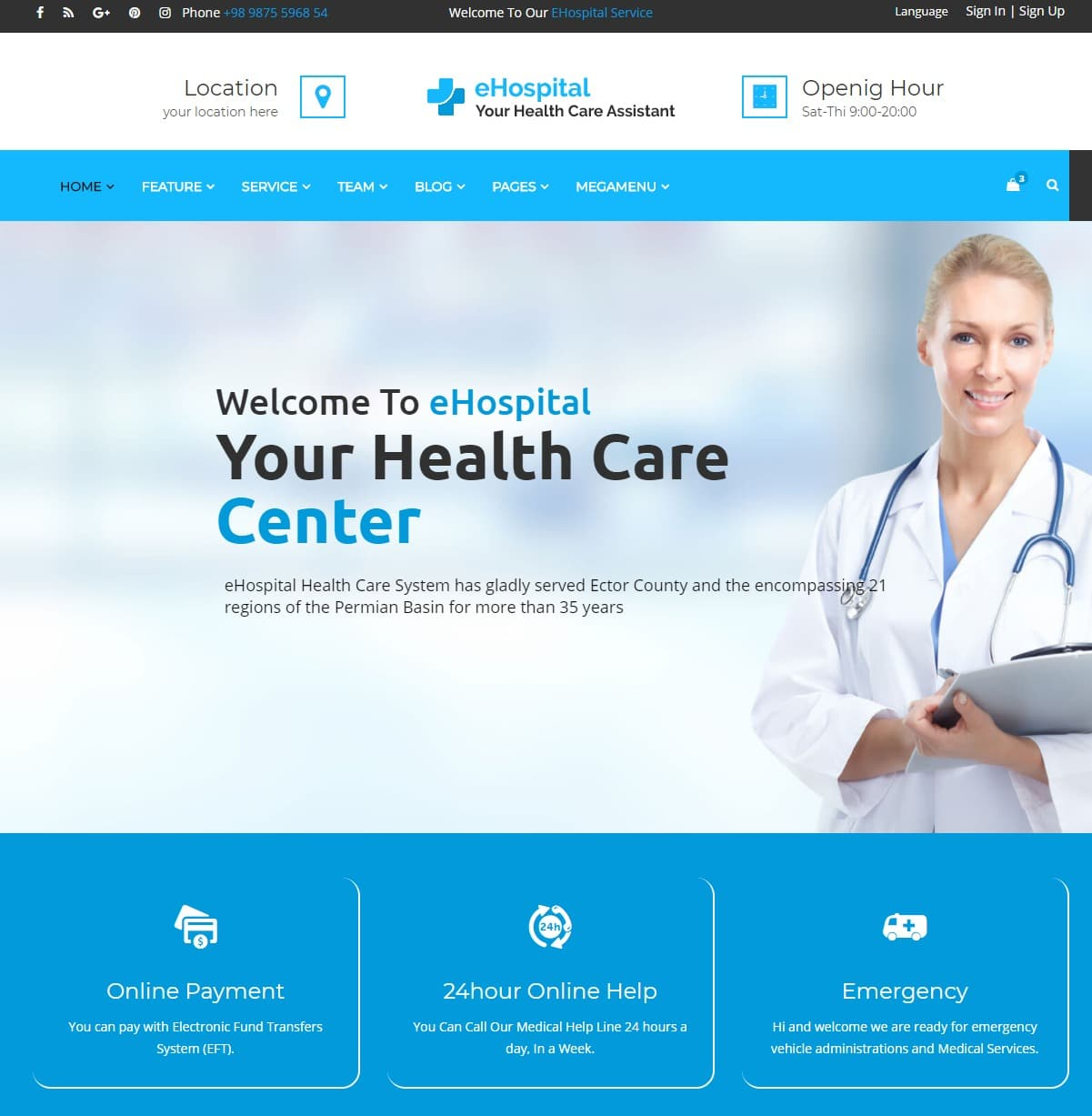 ehospital-html-medical-website-template