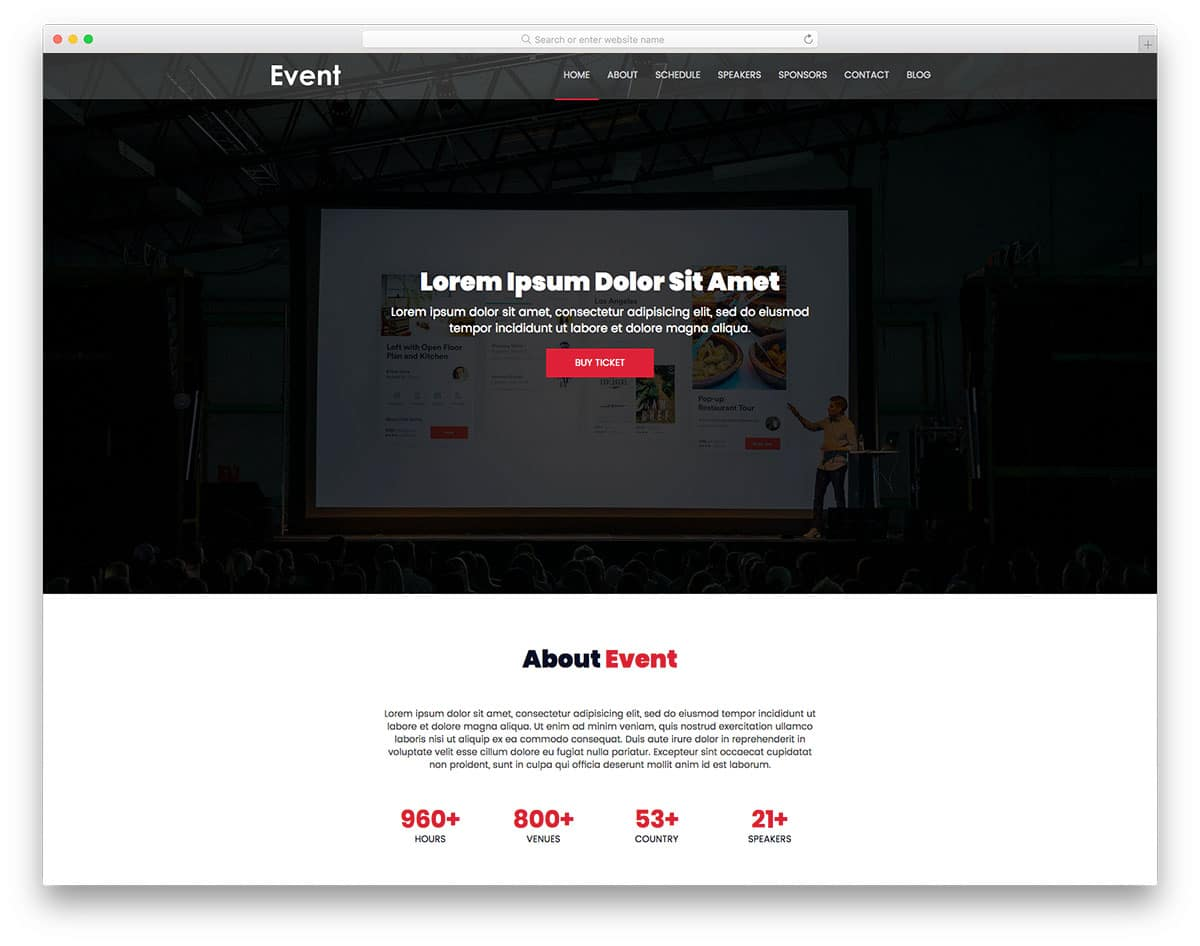 event-free-church-website-templates