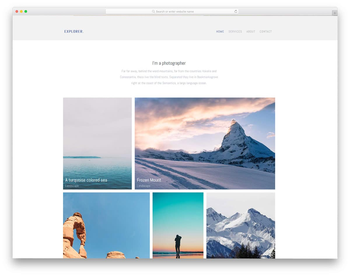 explorer-free-personal-website-templates