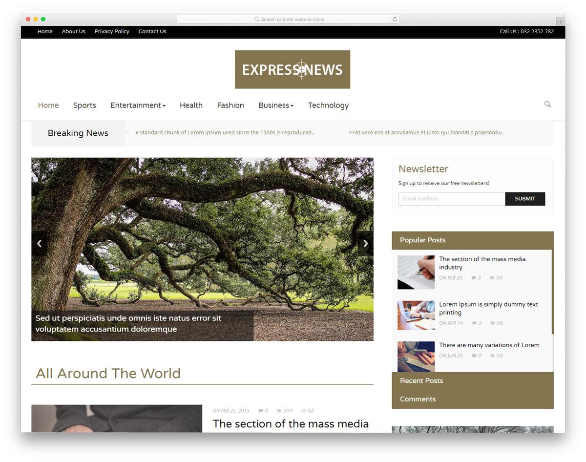 express-news-free-news-website-templates