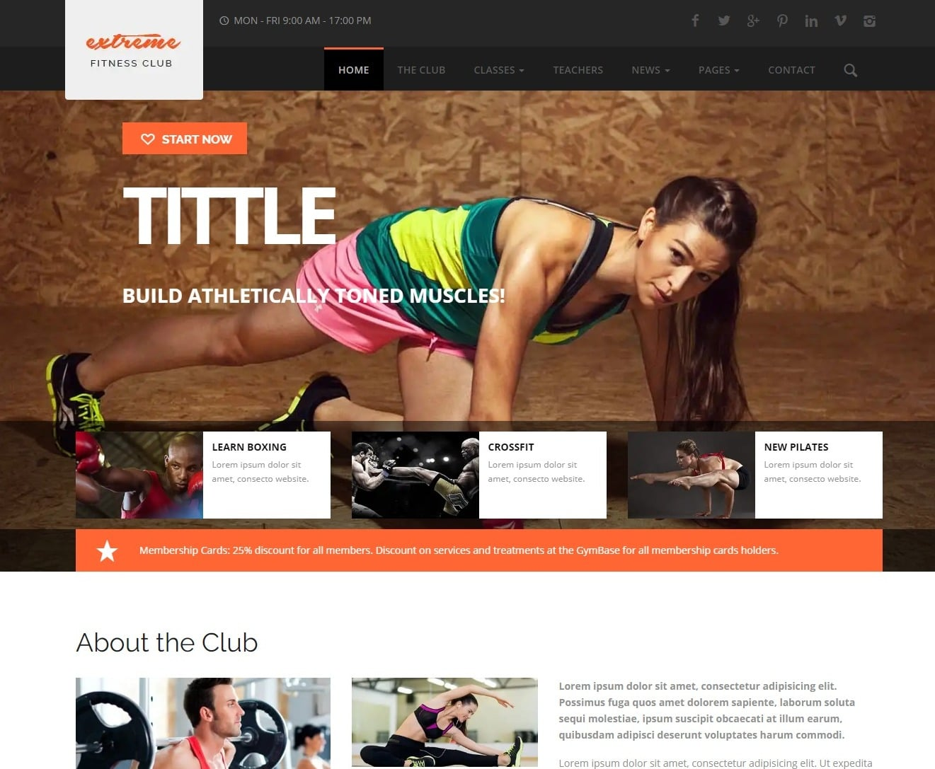 extreme-html-fitness-website-template