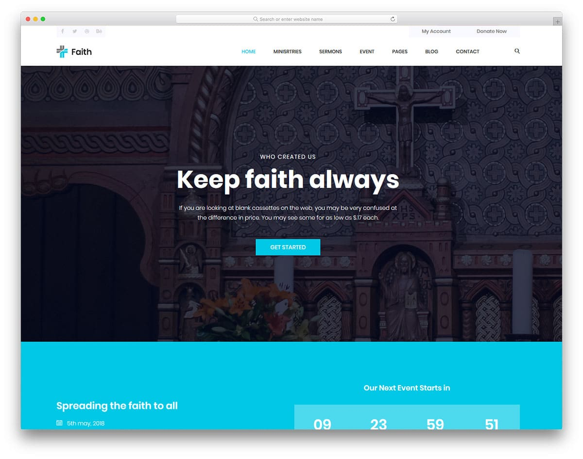 faith-free-church-website-templates