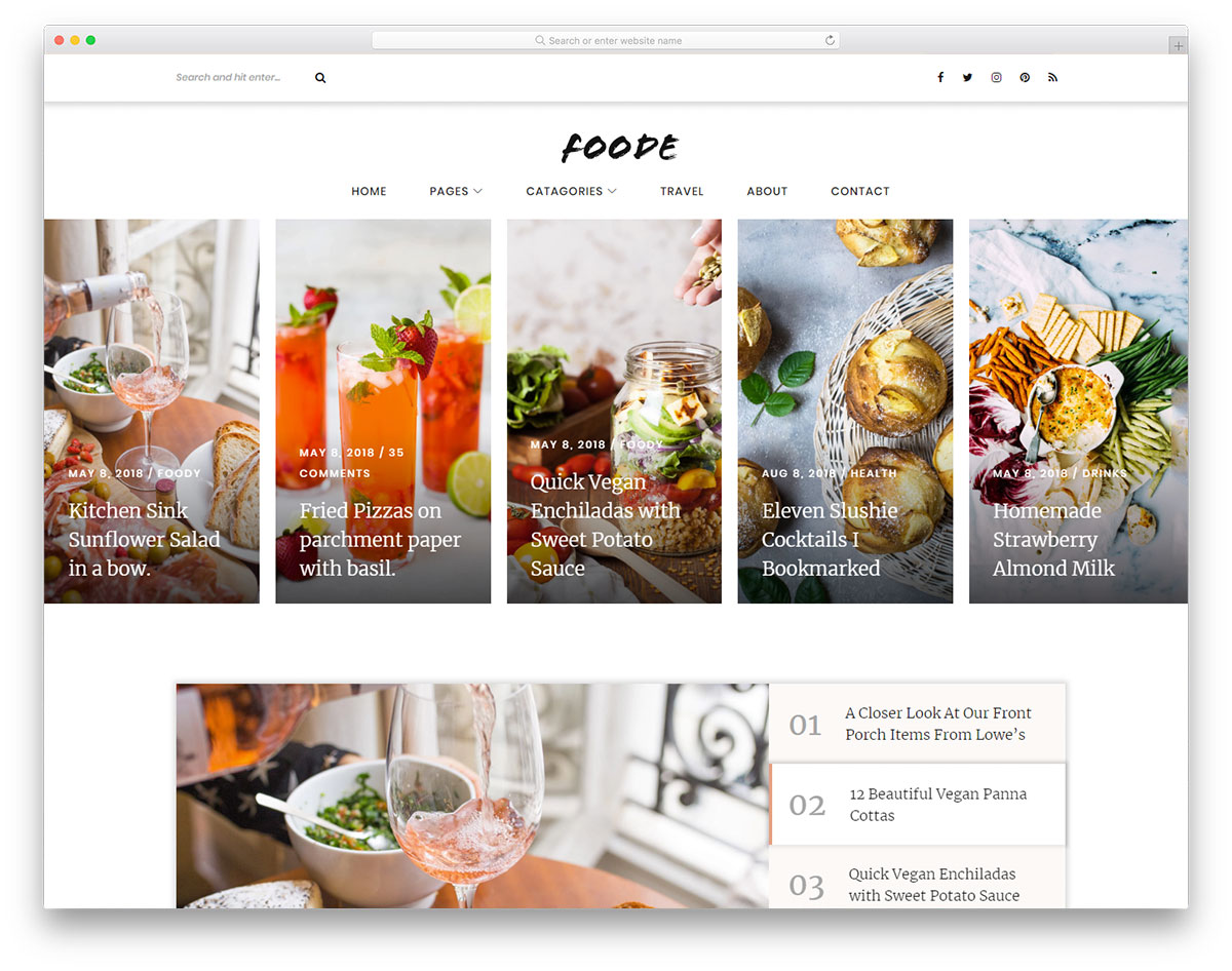 foode-free-blog-templates