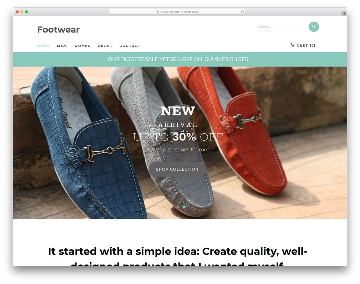 footwear-free-fashion-website-templates