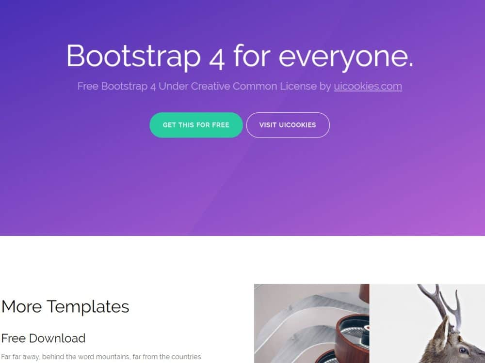 15 free bootstrap 4 website templates best suited for all niches