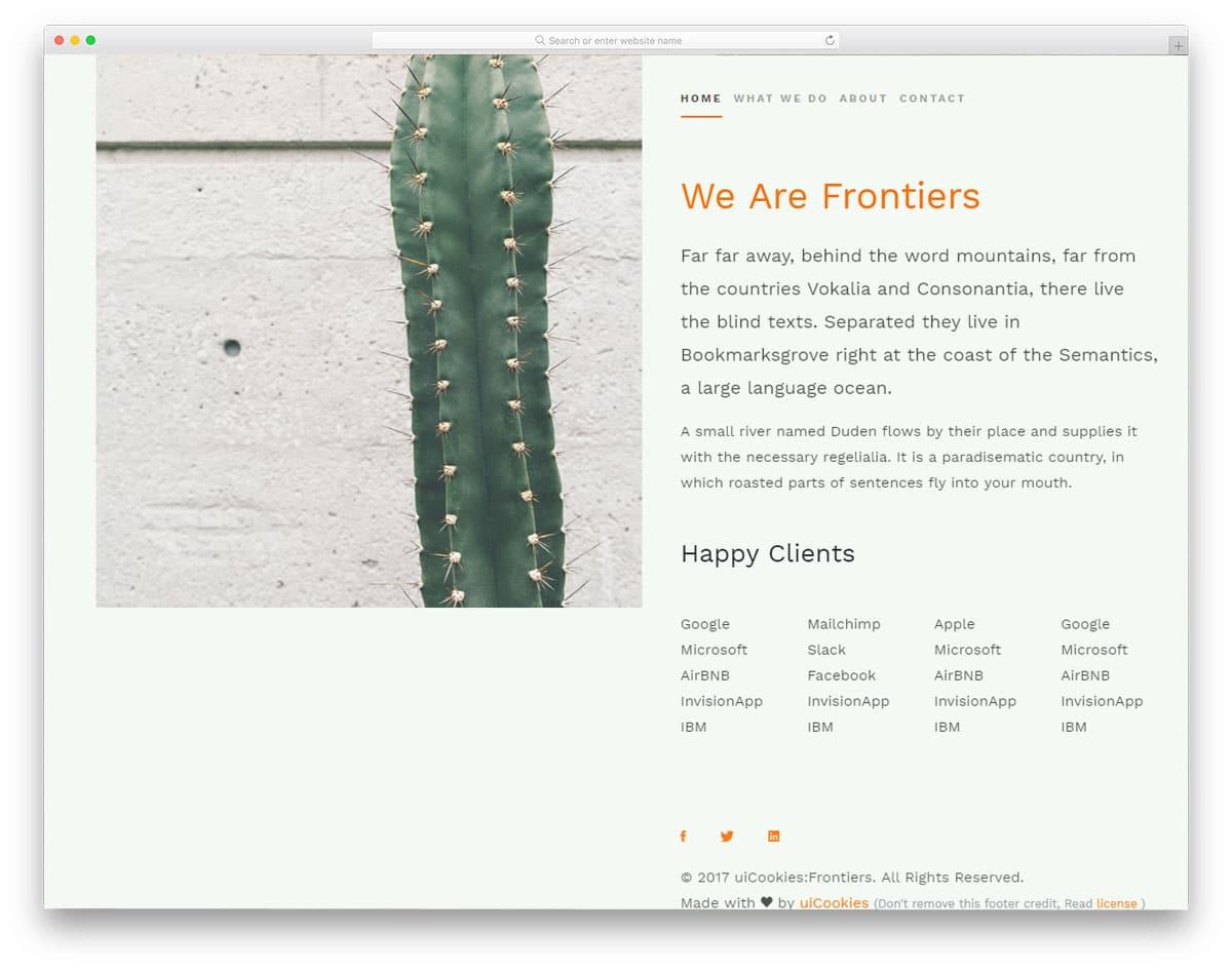 frontiers-free-portfolio-website-templates