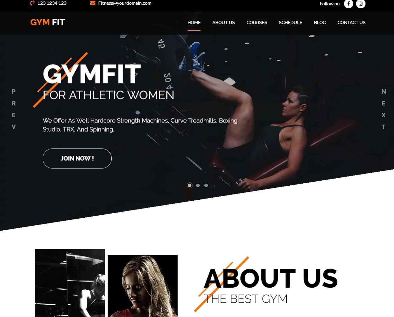 gymfit-html-fitness-website-template