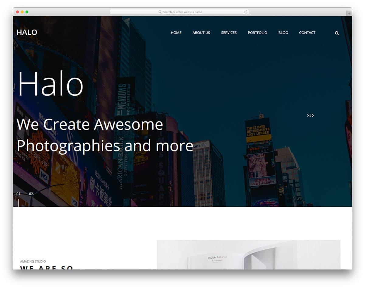 halo-free-bootstrap-portfolio-templates