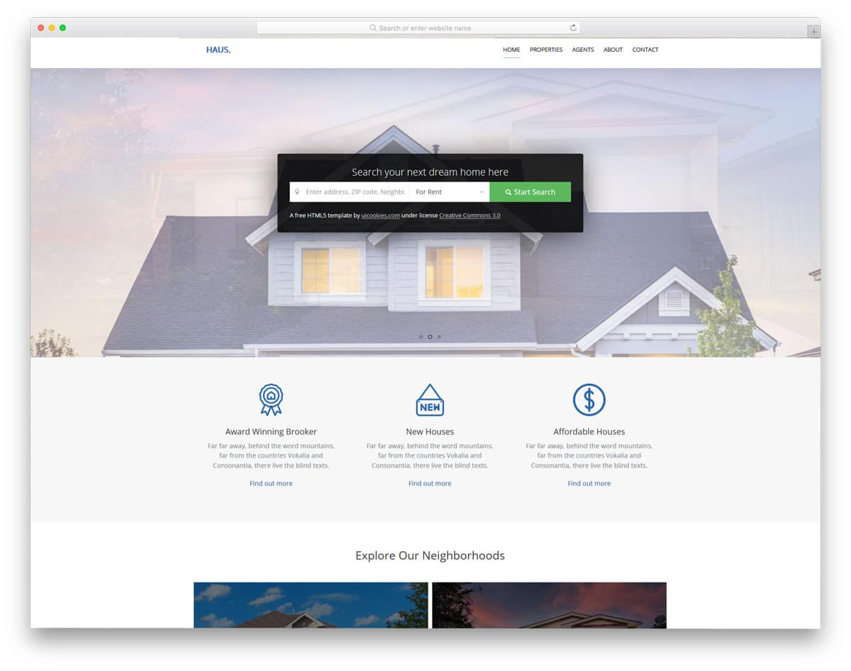 haus-free-hotel-website-templates