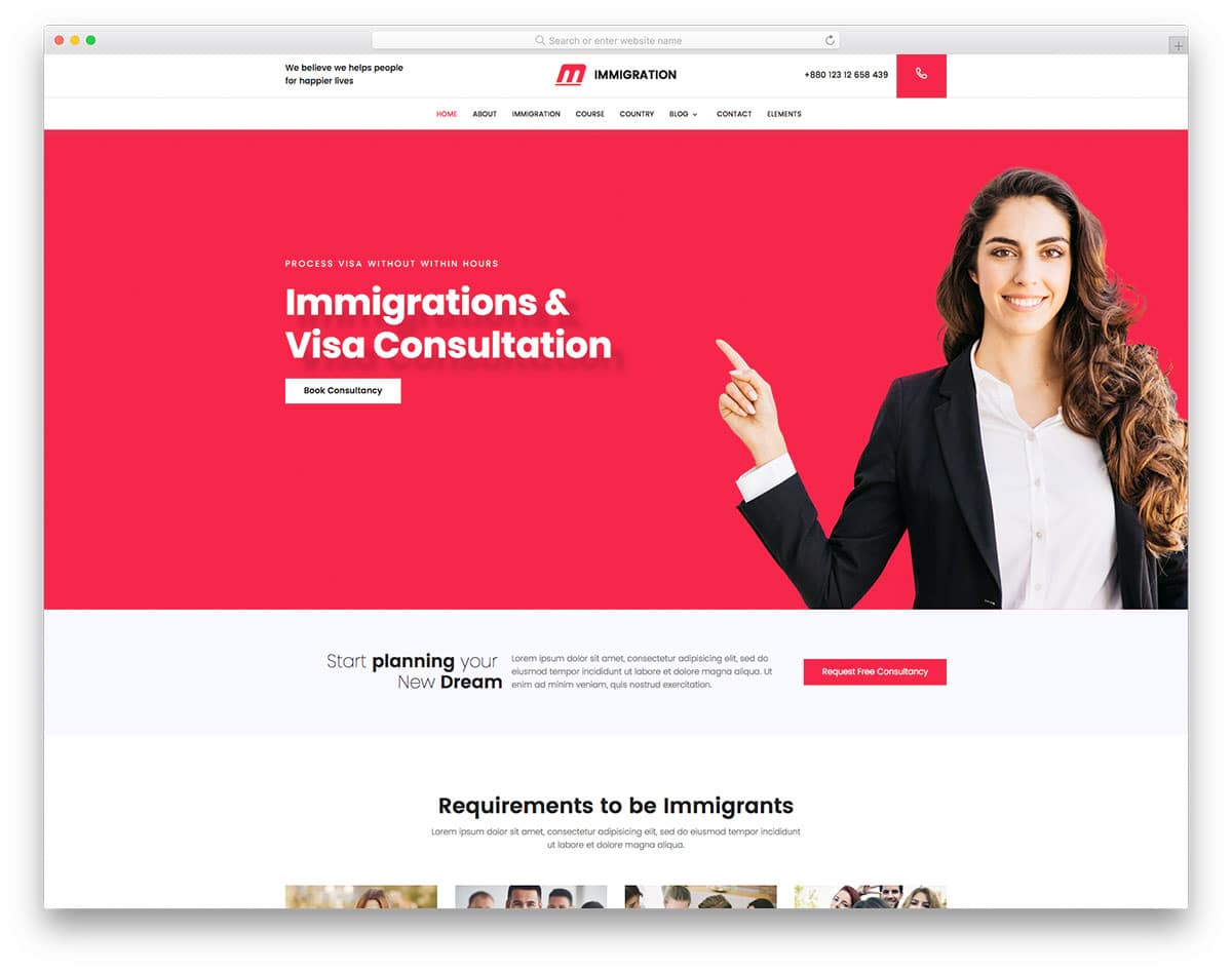 25 free bootstrap business templates to create a signature website immigration free bootstrap business templates friedricerecipe Image collections